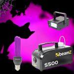 Halloween Lichteffectset met Rookmachine