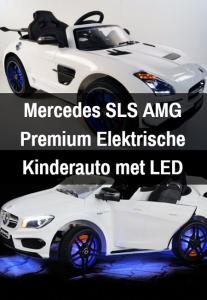 Leer je kinderen autorijden in stijl met deze mooie elektrische kinderauto van Mercedes.