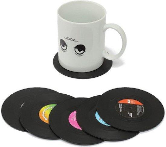 Retro LP | Vinyl Onderzetters 6 stuks