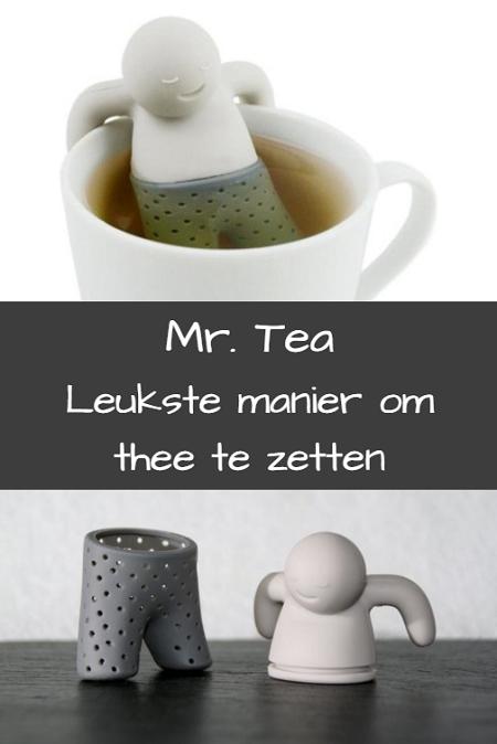 Dit Mr. Tea thee ei is een leuke manier om thee te serveren.