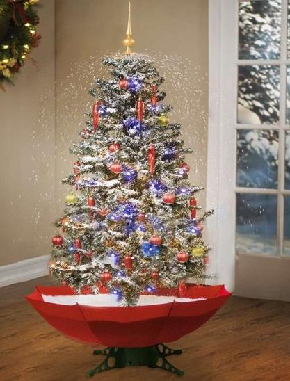 Deze sneeuwende kerstboom is een ware sfeermaker. Nu kun je ieder jaar genieten van een witte kerst.