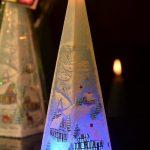 Kerstkaars Piramide met Blauwe LED