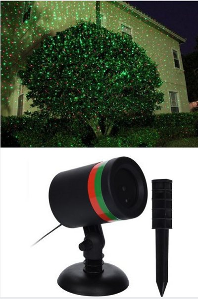 Met deze leuke kerst verlichting laser breng je met een druk op de knop je tuin in de kerstsfeer.