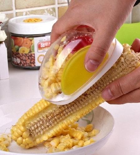 Met deze mais peller ontdoe je in record tijd een maiskolf van zijn korrels.
