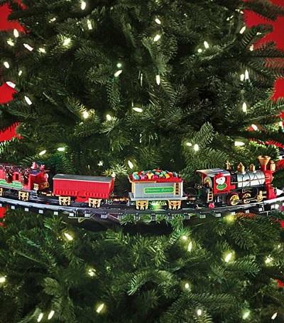 Grappig treintje voor in de kerstboom.