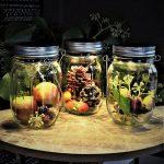 Glazen Potten met Solar LED Verlichting