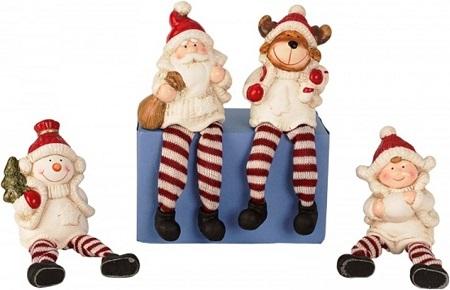 Kerstfiguren met Bungelbenen