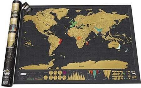 Kras Wereldkaart – Scratch Map Deluxe