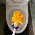 Donald Trump Toilet Borstel