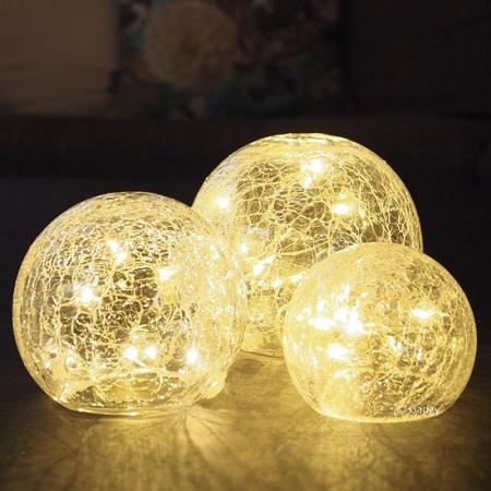 Crackle Glass Ball Lights – Glazen Bol Lampen