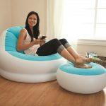 Opblaasbare Loungestoel met Voetensteun