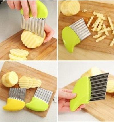 Deze handige aardappel snijder verandert je aardappels in een handomdraai in heerlijke chips of frietjes.