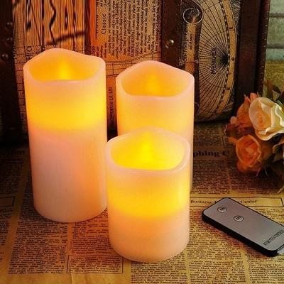 Mooie, levensechte LED kaarsen met bewegende vlam en afstandsbediening.