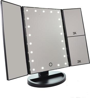 Make-Up Spiegel met LED Verlichting – Drieluik