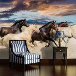 Fotobehang Paarden