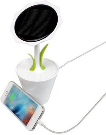 Solar Sunflower USB oplader.