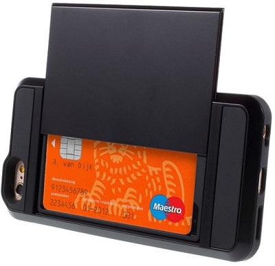 Telefoonhoesje met Geheime Pasjeshouder iPhone 6/6s Hardcase