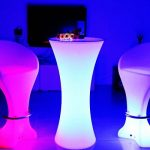 LED Statafel - RGB - Oplaadbaar - Met Afstandsbediening