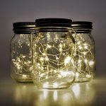 Solar Jar Fairy Lights – 3 Glazen Potten met LED Verlichting - Op Zonne Energie
