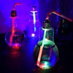 Gloeilamp Cocktailglas met LED Lampje