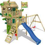 Speeltoestel – Boomhut met Schommels en Glijbaan