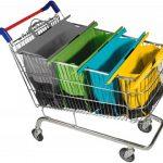 Trolley Bag - Handige Boodschappentassen Set - 4 Delig