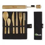 Bamboe Bestek Set met Bamboe Tandenborstel