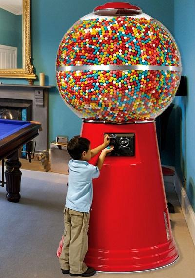 Jumbo kauwgombal automaat