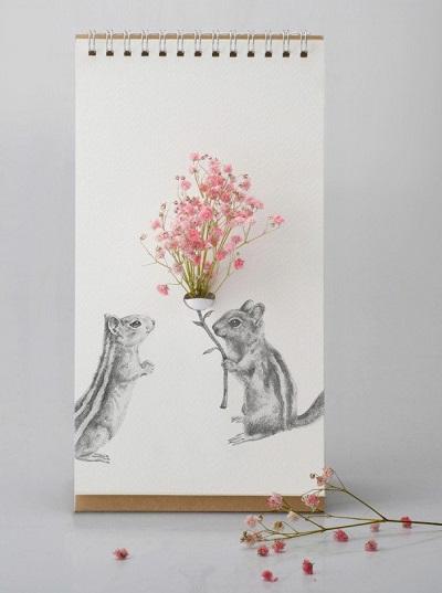 Flip vase - vaasje met verschillende achtergronden.