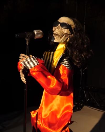 Halloween Zingend en Dansend Skelet