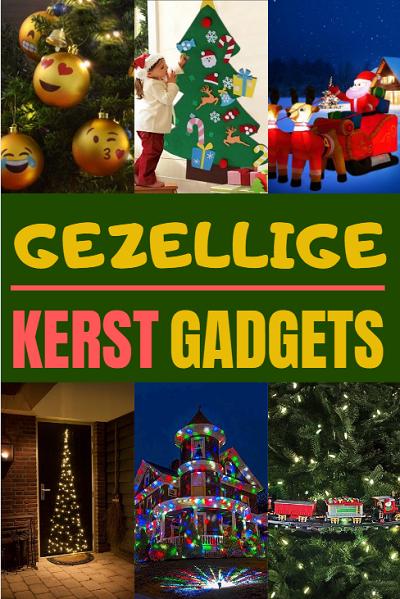 Gezellige kerst gadgets voor binnen en buiten.