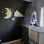 Pluche Muurdecoratie voor Kinderkamer - Maan, Ster, Wolk