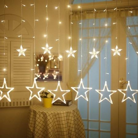 Kerstverlichting Sterrengordijn – Voor Binnen en Buiten