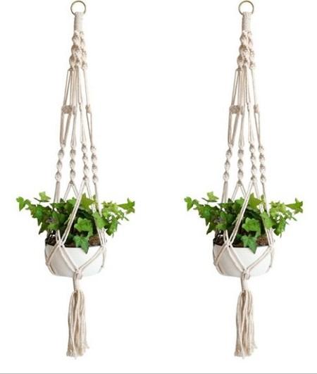 Macramé plantenhangers