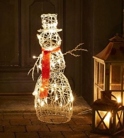 Sneeuwpop Kerstverlichting Buiten – LED – Warm Wit