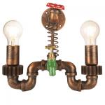 Industriële Wandlamp Tap met Twee Lichtpunten