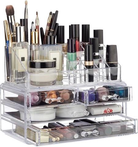 Make-Up Organizer – 2 Delig – Stapelbaar