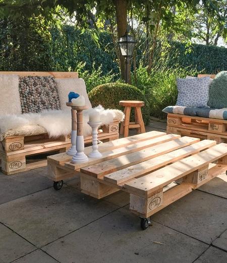 Pallet Loungeset Voor In De Tuin