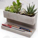 Desktop Planter - Pennenhouder met Plantjes
