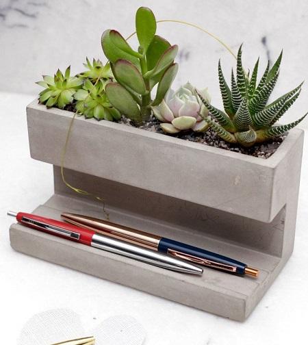 Desktop Planter – Pennenhouder met Plantjes