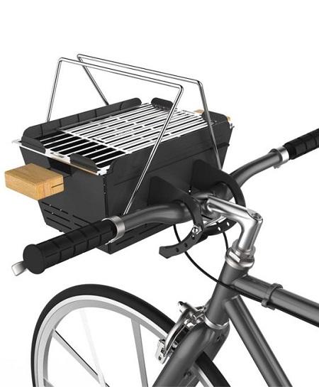 Draagbare Barbecue met fietsbeugel