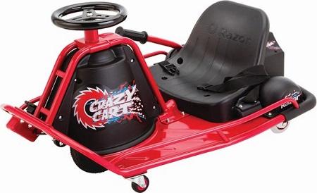 Crazy Cart elektrische drift cart met gepatenteerd 'Drift systeem'.