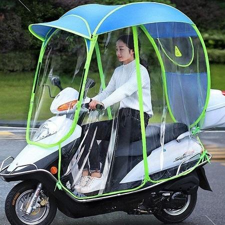 Opvouwbare Scooter Paraplu – Zonnescherm – Volledige Waterdichte Scooter Overkapping