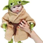 Hand Gebreid Baby Yoda Kostuum