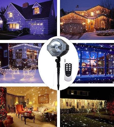 Sneeuw Projector LED Lamp – Binnen & Buiten