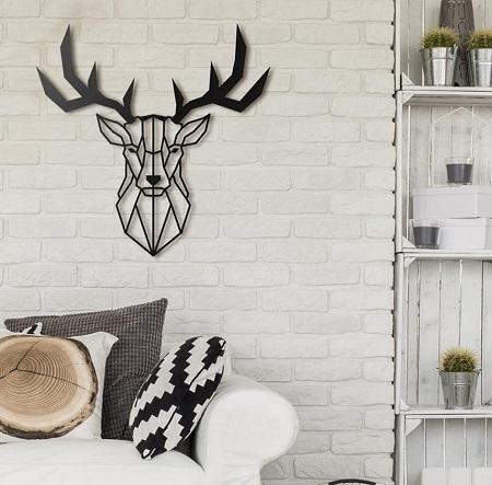 Metalen Hertenkop Wanddecoratie