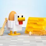 Minecraft Kip Eierdopje en Toastsnijder