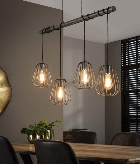 Industriële Hanglamp Holly – 4 lichts