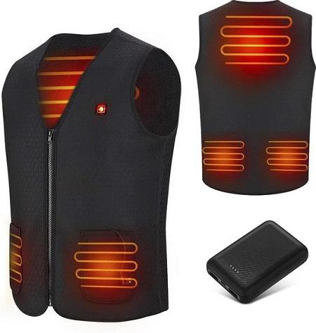 Verwarmde Bodywarmer met 10.000 mAh Powerbank