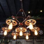Industriële Hanglamp met Tandwielen